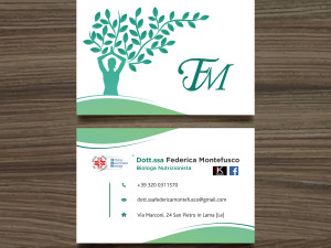 Federica Montefusco Logo and Business Card